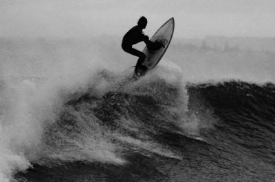 beach, people, ocean, sea, monochrome, water, athlete, surfer