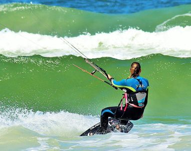 Sport, wody, Kobieta, surfer, sport, Ekstremalne, morze, ocean