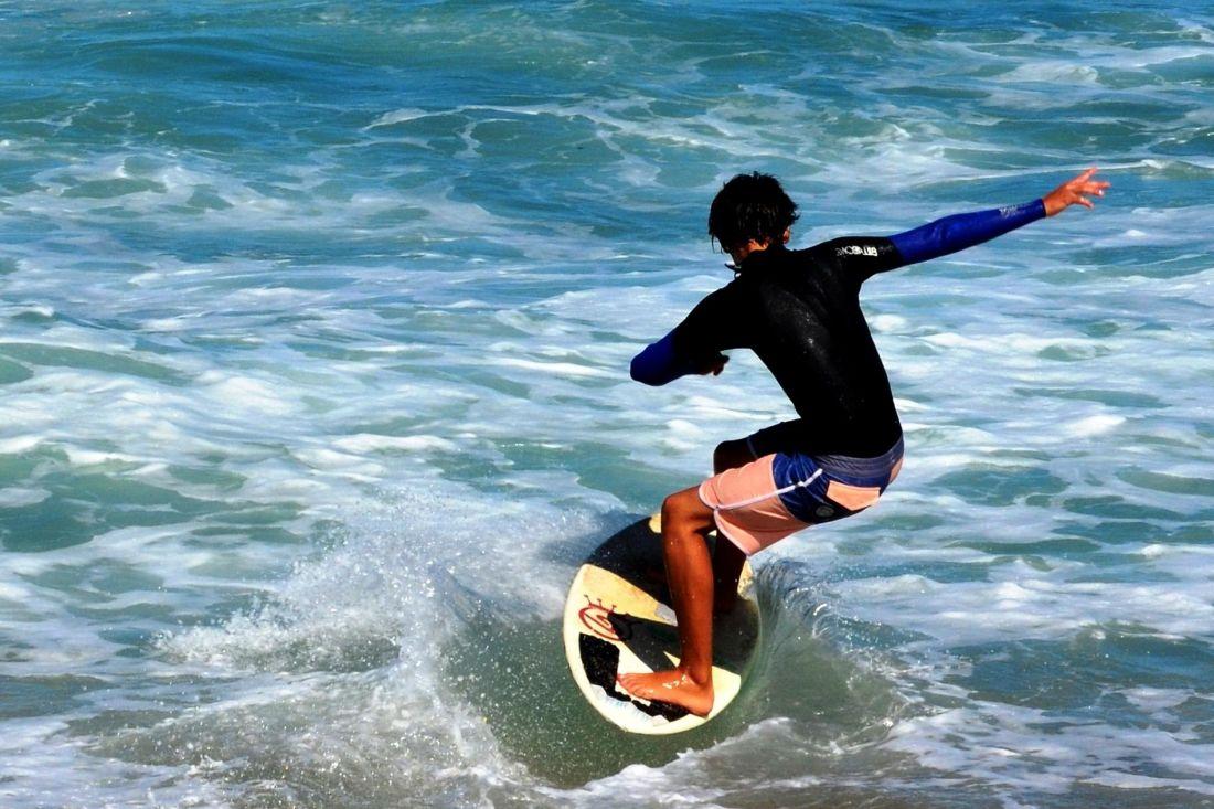Wasser, Meer, Ozean, Strand, Sommer, Surfer, Sport, Sommer