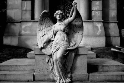 art, monochrome, angel, statue, statue, sculpture, ancient, religion