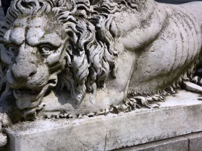 sculpture, statue, lion, marble, ancient, art, stone