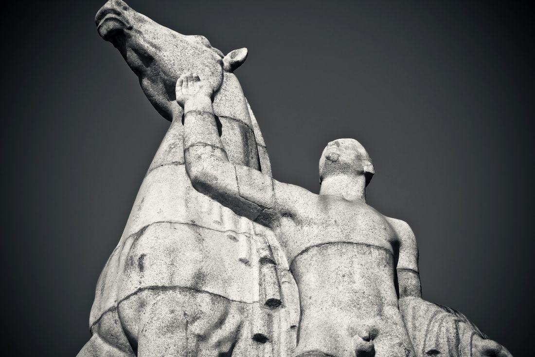 skulptura, ljudi, kip, umjetnosti, čovjek, vjera, konja, kip, drevni