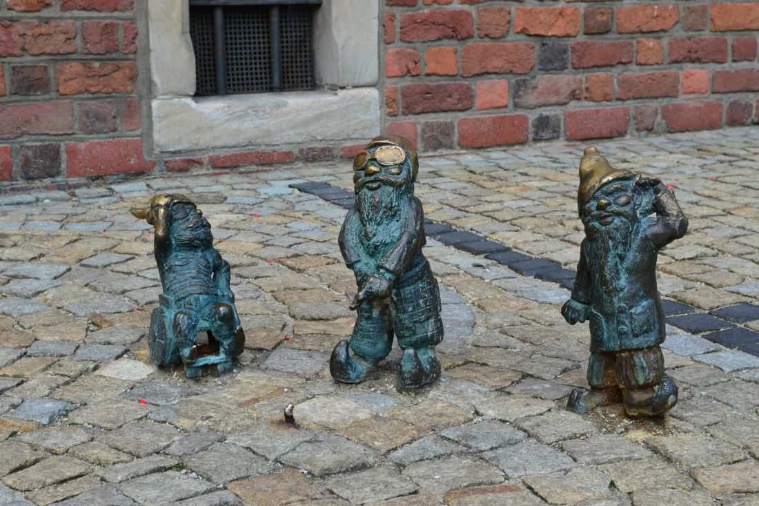 old, city, bronze, pavement, statue, sculpture, urban, art, iron