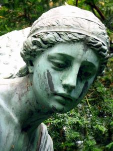 sculpture, statue, art, cimetière, portrait, Pierre, marbre