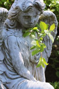 sculpture, statue, art, marble, monument, cemetery, angel, religion