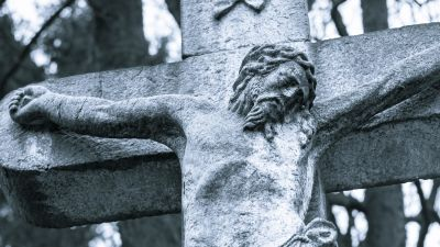 stone, cemetery, sculpture, religion, statue, architecture, cross