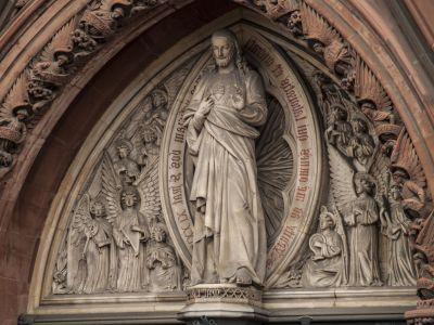 kristendommen, væg, kunst, katedralen, arkitektur, alteret, religion, skulptur, udvendige