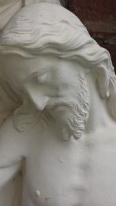 sculpture, marble, statue, art, head, Christ, christianity, religion, monochrome