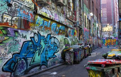 graffiti, street, urban, city, vandalism, alley, old, alley, colorful