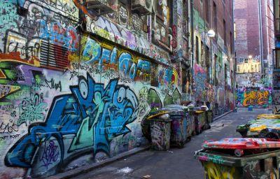 Graffiti, street, urbano, città, vandalismo, vicolo, vecchia, vicolo, colorato