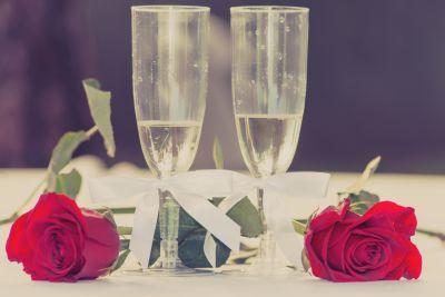 Rose, fleur, verrerie, romance, décoration, amour, verre