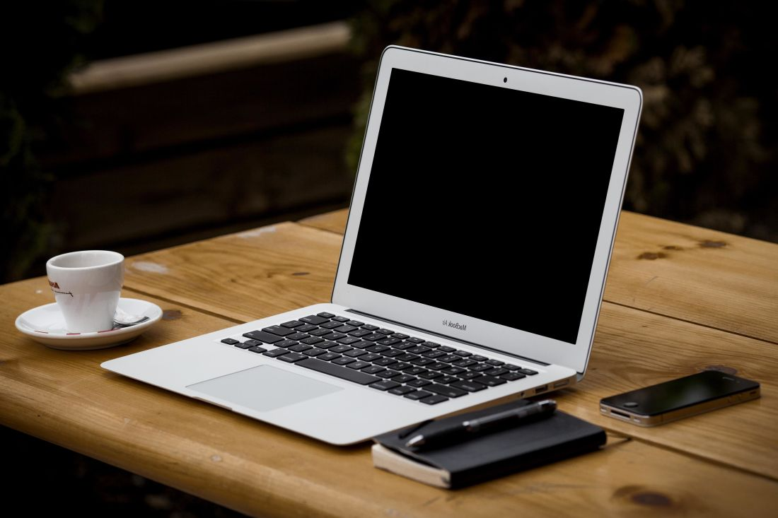 kaffekopp, kontor, bærbar datamaskin, teknologi, Internett, tastaturet, mobiltelefon