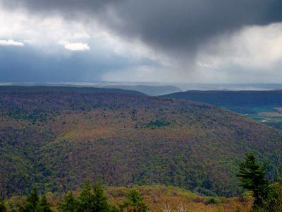 landscape, mountain, sky, fog, nature, sunset, hill, cloud, valley