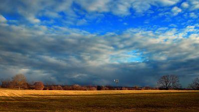 landscape, sky, nature, rural, atmosphere, field, cloud