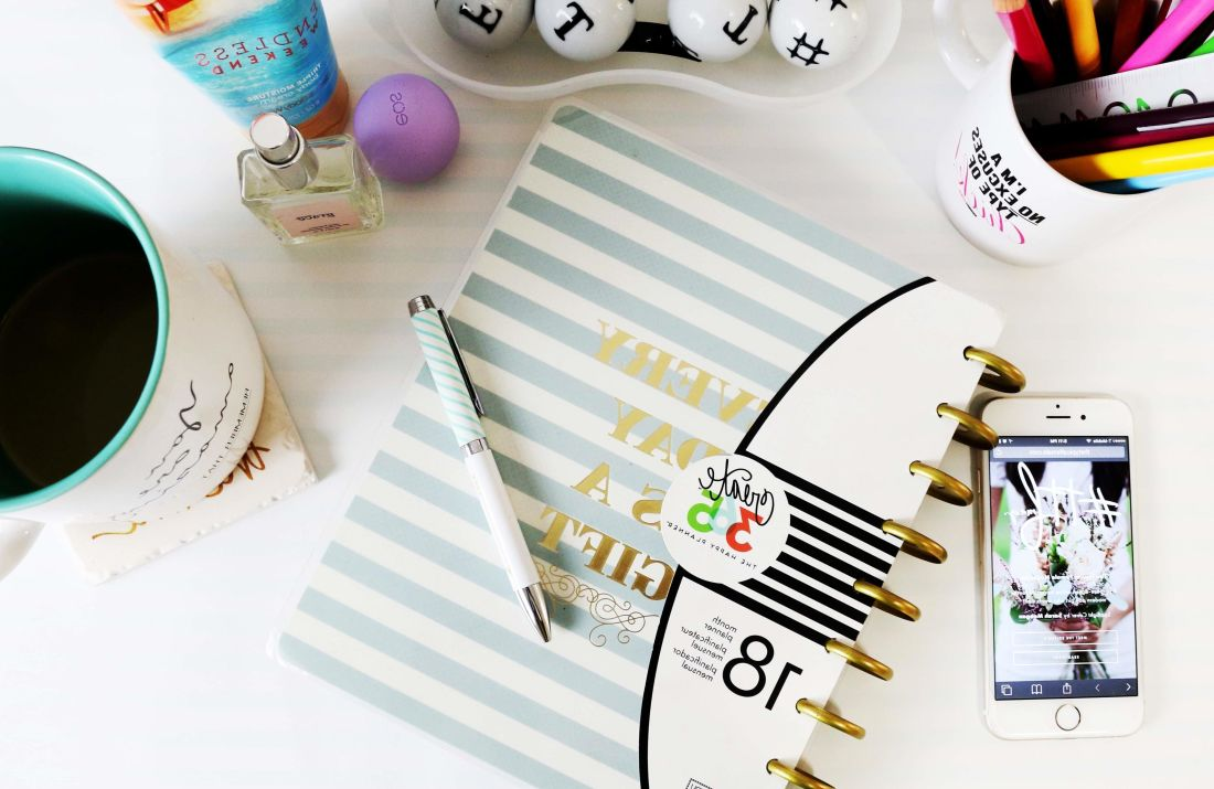 paper, office, mug, pencil, mobile phone