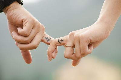 hand, woman, tattoo, partnership, finger, boyfriend, girlfriend, romance, people