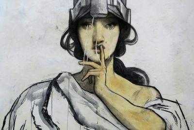art, gens, illustration, croquis, peinture murale, créativité, portrait