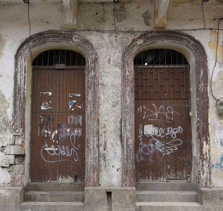 architecture, porte, entrée, vieille porte, abandonné