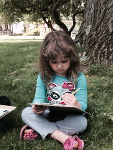 child, girl, education, grass, people, cute, book, tree, garden