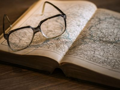 eyeglasses, literature, book, paper, page, education, map, old