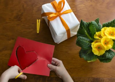 heart, hand, flower, leaf, card, birthday, paper, material, paper, design, material