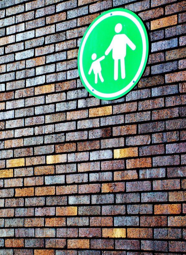 signe, brique, texture, urbaine, architecture, mur extérieur, sale, vieux