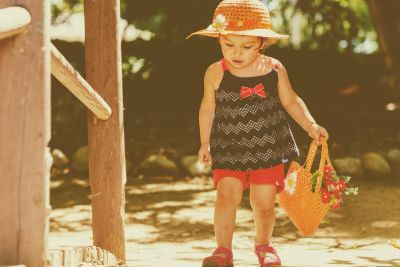 child, hat, park, girl, happiness, enjoyment, playground, portrait, nature, summer