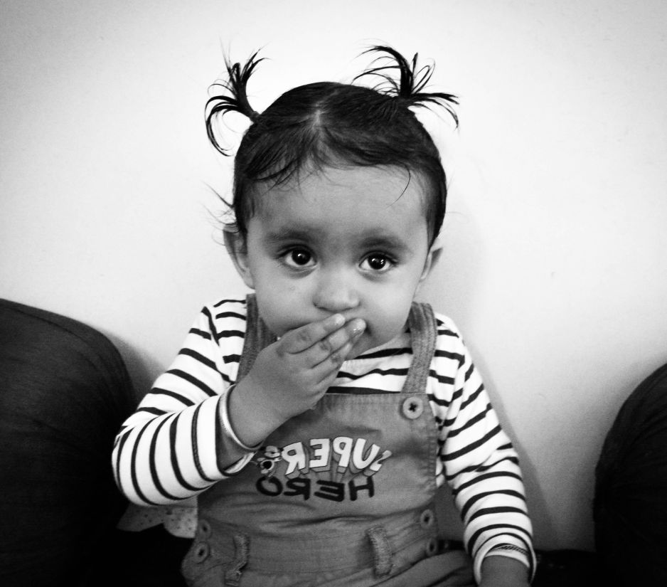 child, monochrome, portrait, people, cute, baby, kid