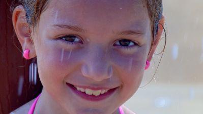 barn, portræt, pige, sød, smuk pige, smil, mennesker, ansigt, person