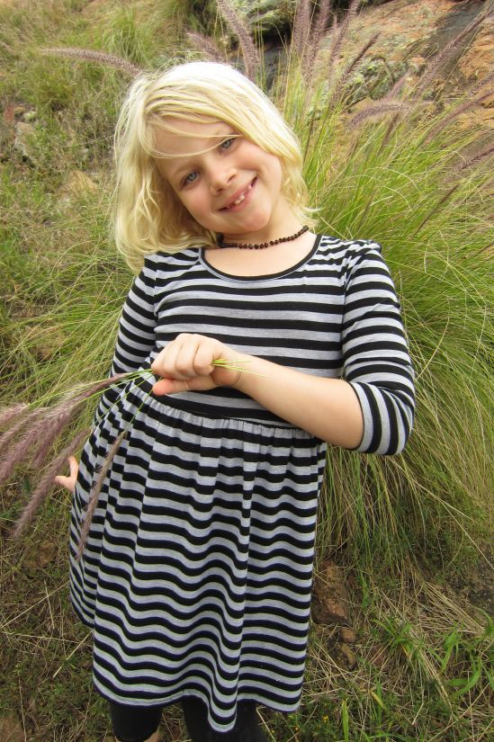 nature, blonde hair, pretty girl, outfit, grass, child, portrait, outdoor
