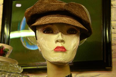 plastic, doll, object, fashion, portrait, hat