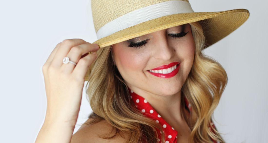 Žena, klobouk, móda, oblečení, hezká holka, portrét, glamour, dívka, obličej
