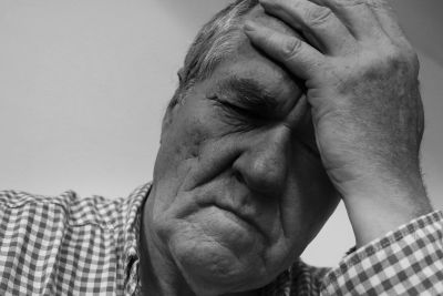 sadness, despair, stress, man, portrait, monochrome, wrinkle