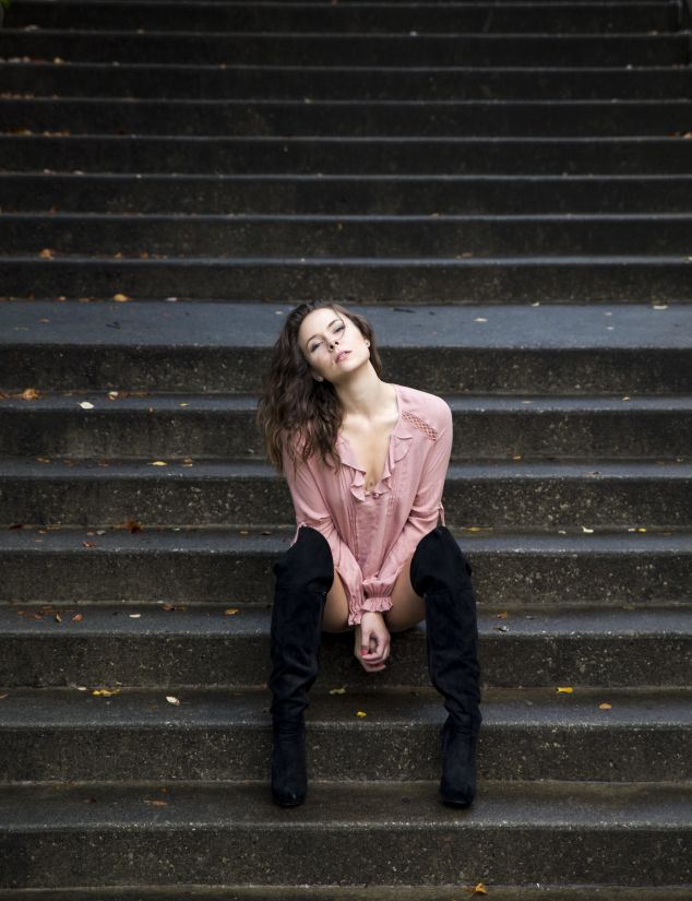 dívka, Žena, móda, portrét, lidé, ulice, glamour