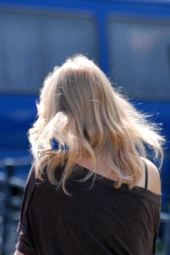 coiffure, fille, gens, portrait, femme, blond, cheveux, beau