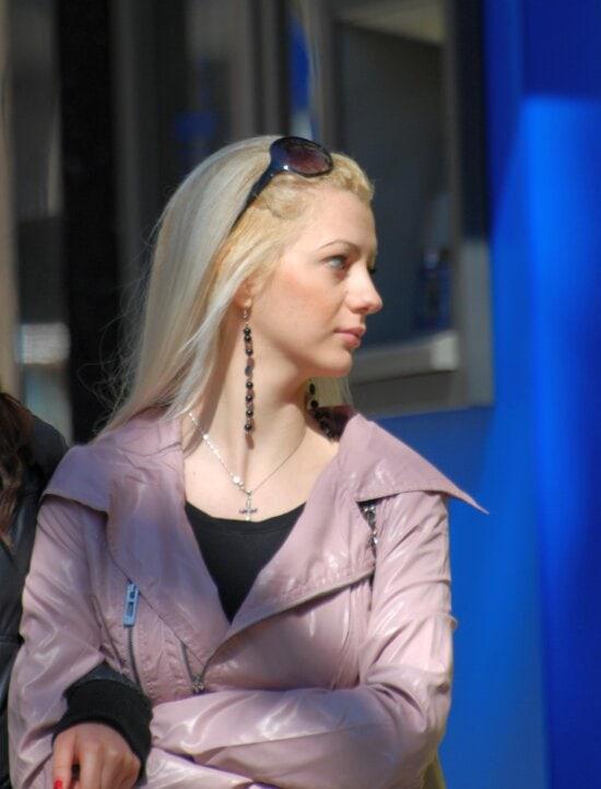 femme, portrait, cheveux blonds, jolie fille, visage, mode, people, personne