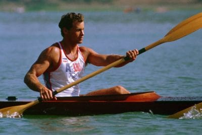 canoe, athlete, kayak, oar, man, race, water, paddle, sport, competition