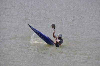 competitie, kajak, water, ras, atleet, rivier, zee, outdoor, roeispaan