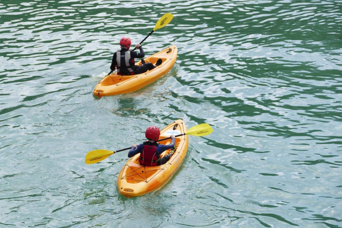 vatten, sommaren, vattenskoter, båt, kajak, sport, rekreation, kanot, oar