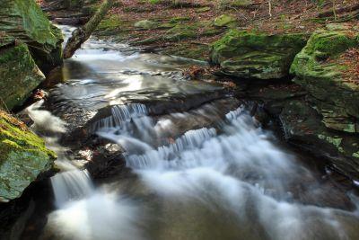 eau, rivière, chute d'eau, nature, forêt, moss, flux