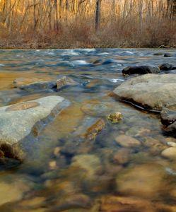 вода, река, поток, пейзаж, природа, отражение