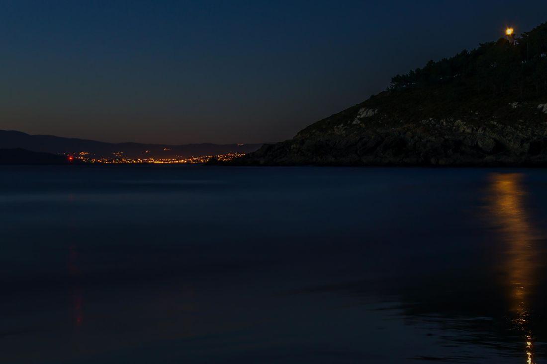 puesta de sol, noche, agua, amanecer, playa, mar, reflejo, paisaje