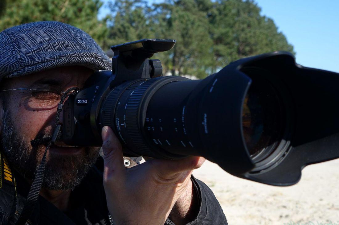 人、ズーム、肖像画、レンズ、写真家、カメラ、機器、屋外の男