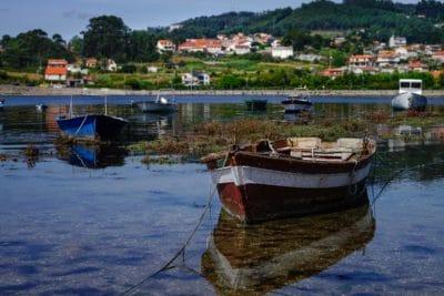 jezero, člun, urban, reflexe, oceán, molo, řeka, port