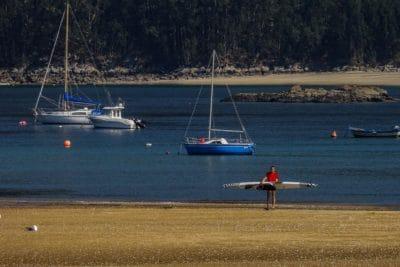 вода, море, морския бряг, превозно средство, океан, платноходка, плажа, лодка, небе, Открит