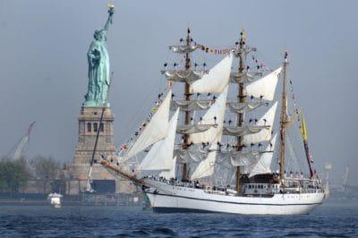 estatua, embarcación, nave, agua, barco, velero, mar, vela, sky, vehículo