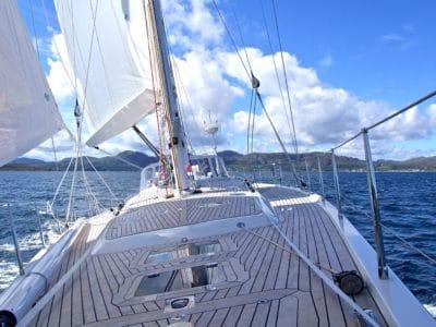 sailboat, yacht, sail, watercraft, ocean, ship, boat, water