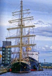 watercraft, ship, boat, water, sail, sea, blue sky, urban
