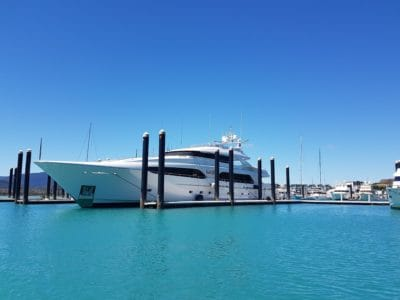 water, blue sky, pier, ship, luxury, boat, yacht, sea, outdoor
