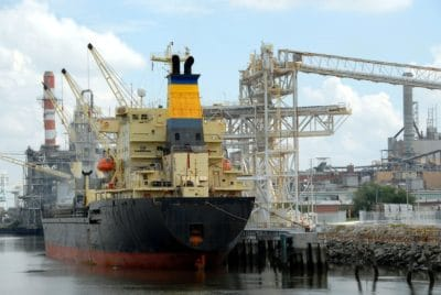 industry, watercraft, pollution, cargo ship, cargo, container, harbor, water